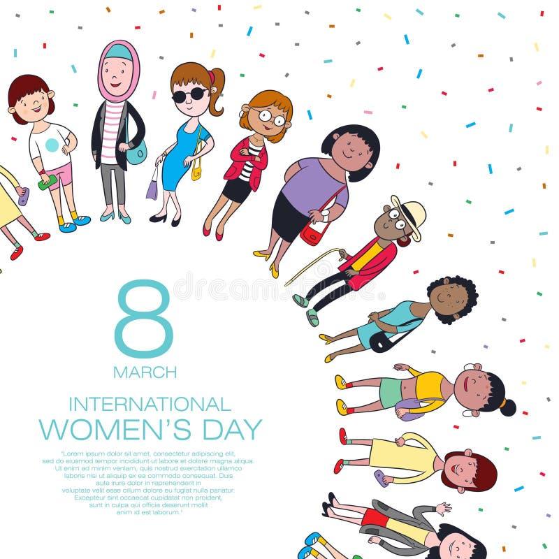 Día feliz del ` s de la mujer imagen de archivo
