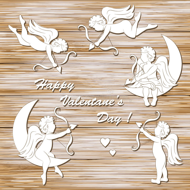 Día feliz del ` s de la tarjeta del día de San Valentín libre illustration