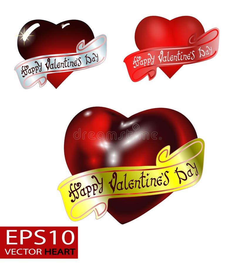 Día feliz del `s de la tarjeta del día de San Valentín Diseño de letras del vector fotografía de archivo