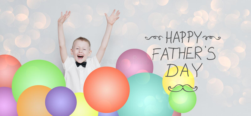 Día feliz del ` s del padre imagenes de archivo