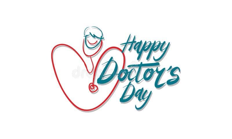 Día feliz del ` s del doctor stock de ilustración
