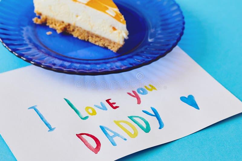 Día feliz del ` s del padre, día internacional del ` s de los hombres o tarjeta de cumpleaños Tarjeta de felicitación coloreada h fotos de archivo
