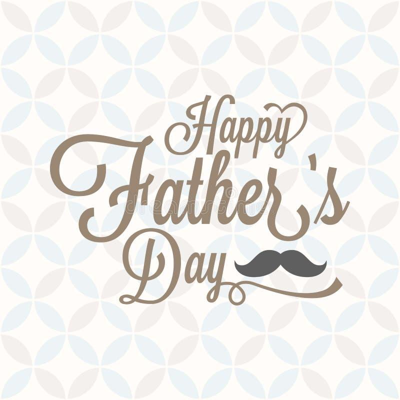 Día feliz del ` s del padre tipográfico con el fondo y el bigote del vintage libre illustration
