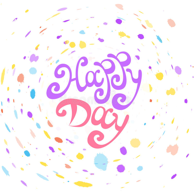 Día feliz del vector ilustración del vector
