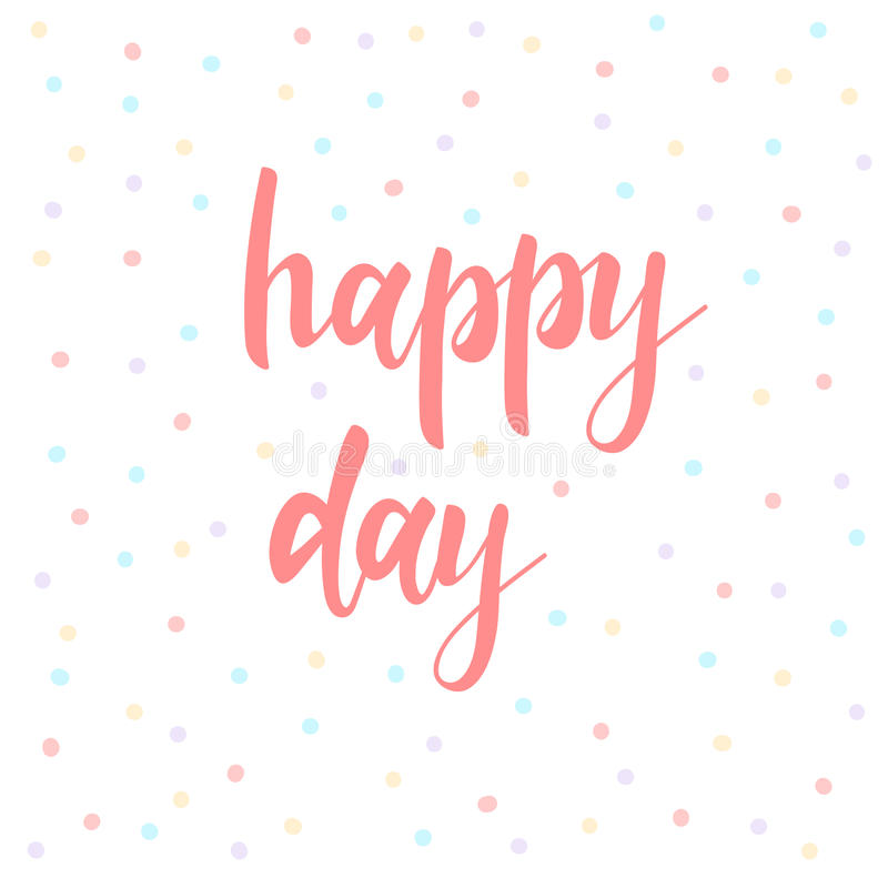 Día Feliz Letras Abstractas Para La Tarjeta Invitación