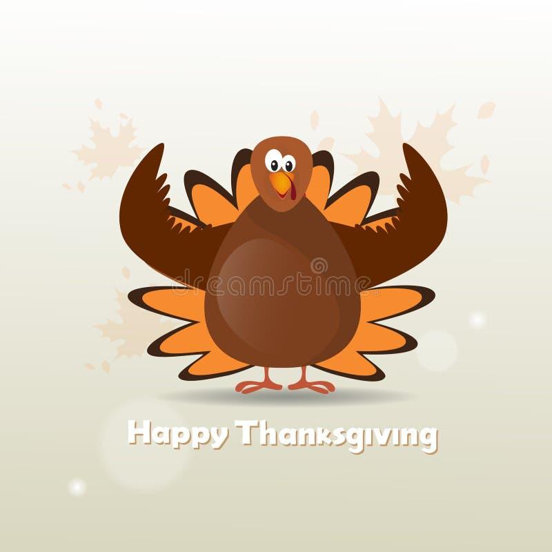 Día feliz Turquía Autumn Traditional Holiday Banner de la acción de gracias ilustración del vector