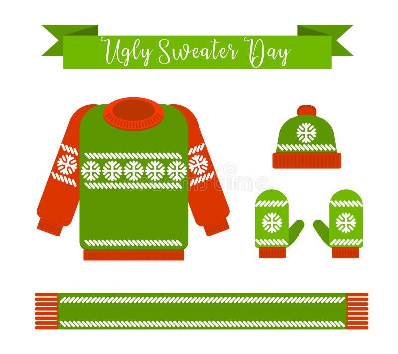 Día feo del suéter ilustración del vector