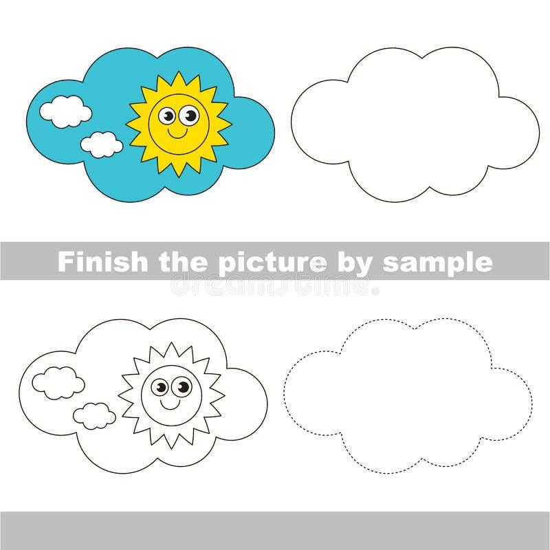 día Hoja de trabajo del dibujo stock de ilustración