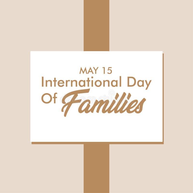 Día internacional de ejemplo del diseño de la plantilla del vector de mayo de las familias ilustración del vector