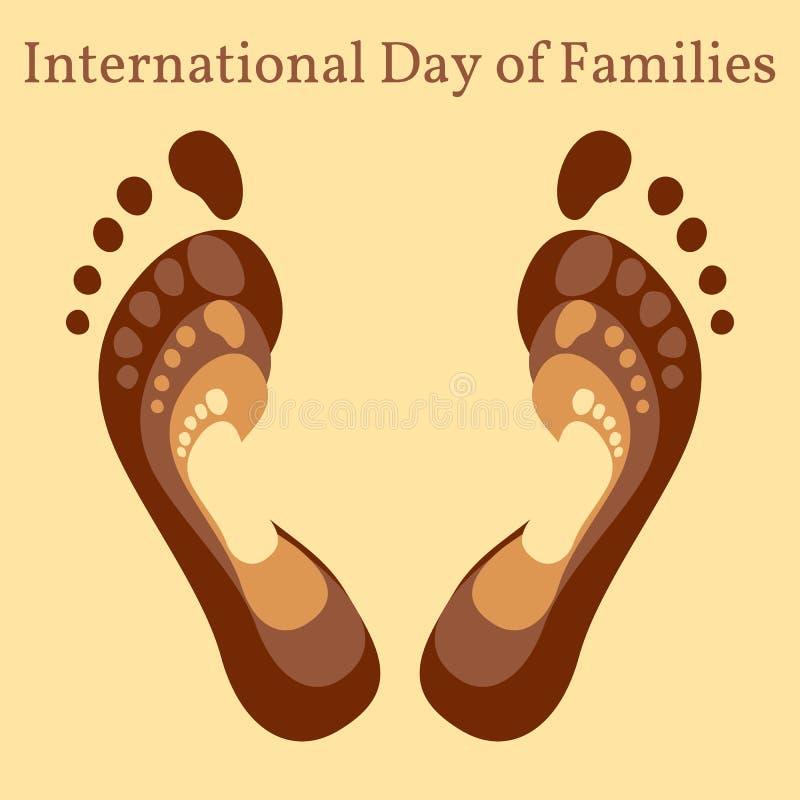 Día internacional de familias ilustración del vector