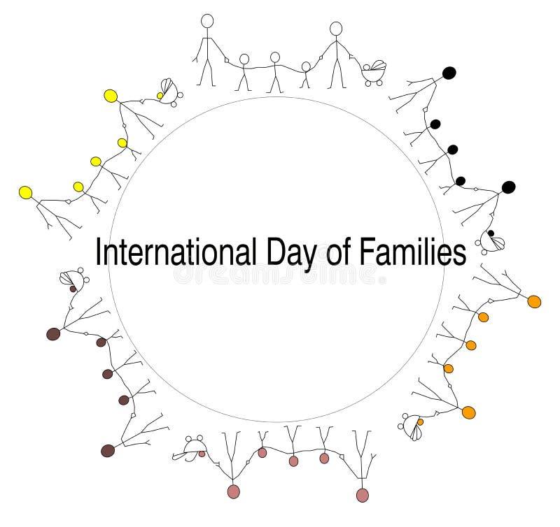 Día internacional de familias libre illustration