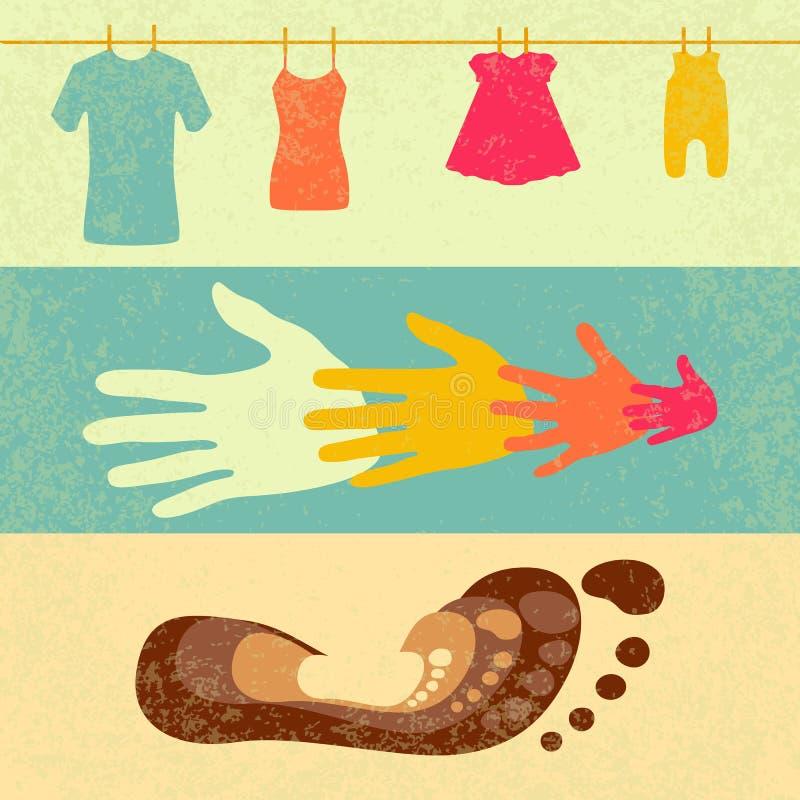 Día internacional de familias Señales para los participantes del evento stock de ilustración