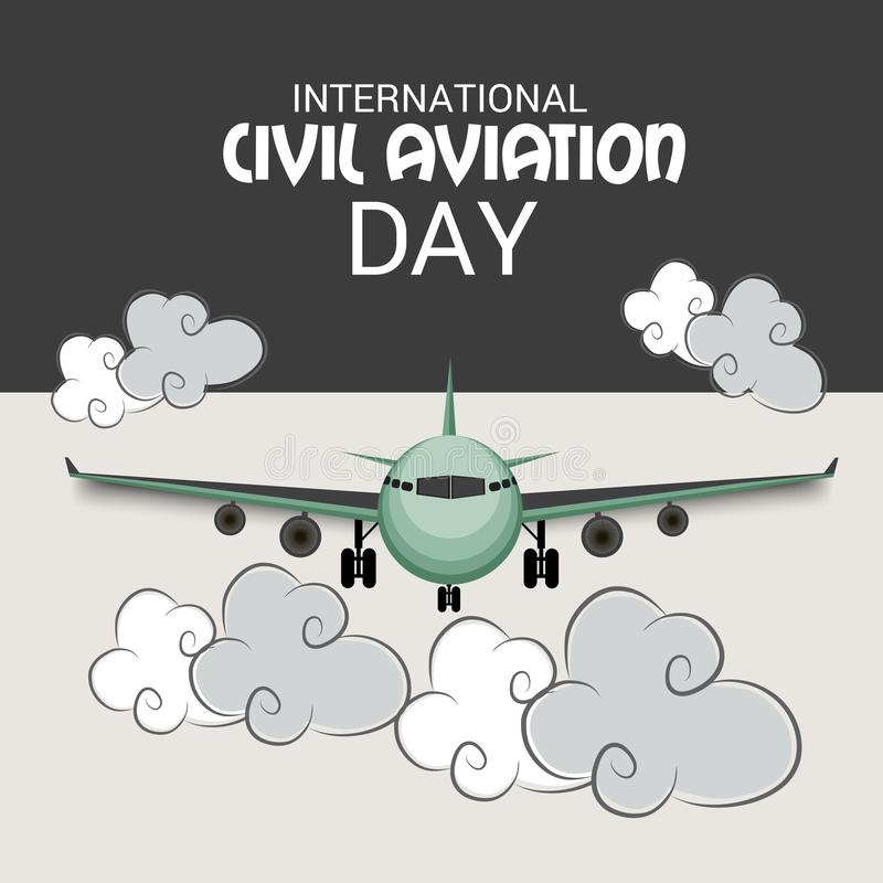 Día internacional de la aviación civil ilustración del vector
