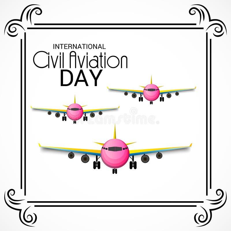 Día internacional de la aviación civil stock de ilustración