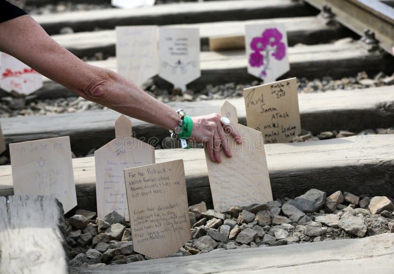 Día internacional de la conmemoración del holocausto imagenes de archivo