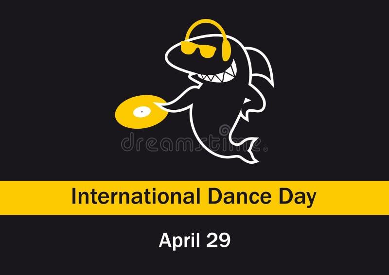 Día internacional de la danza stock de ilustración