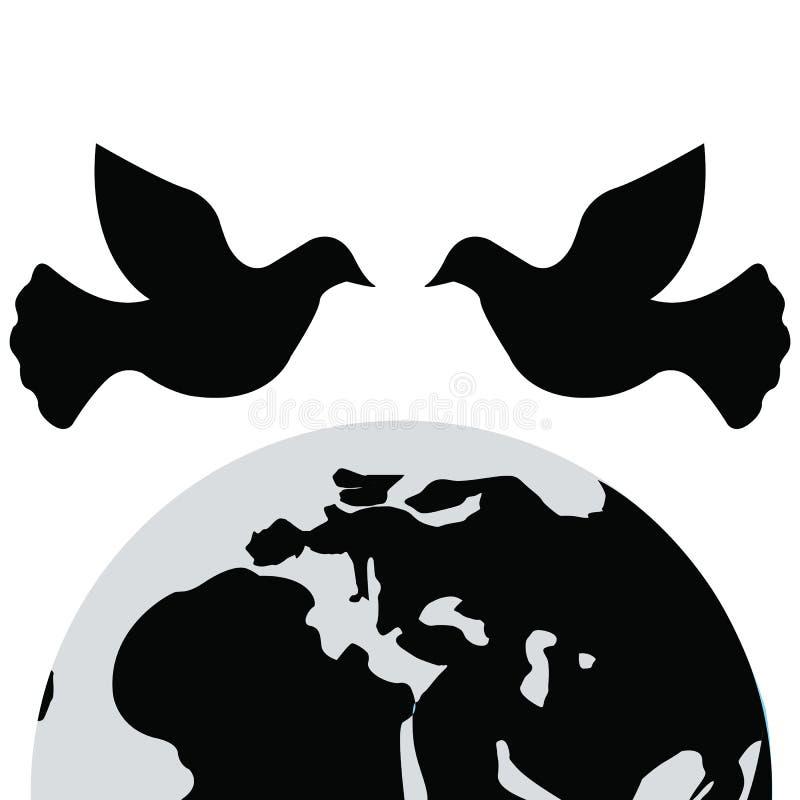 Día internacional de la paz Icono y vector de la paloma imagen de archivo libre de regalías