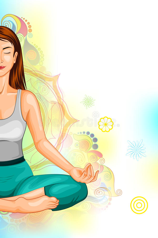 Día internacional de la yoga ilustración del vector