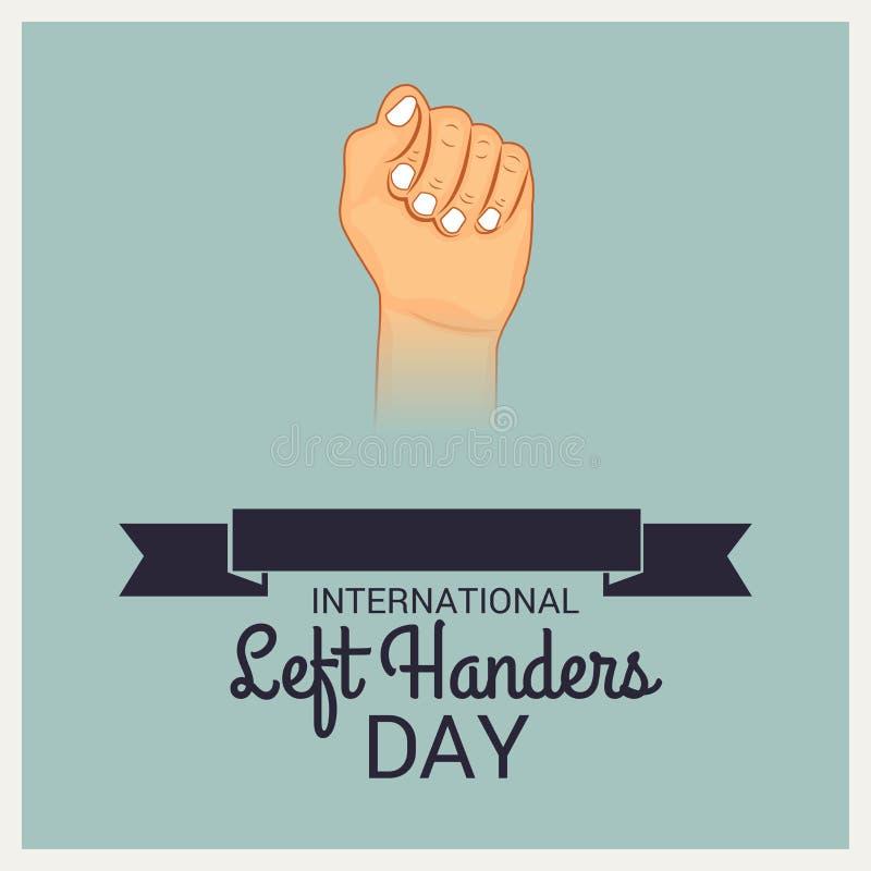 Día internacional de los zurdos libre illustration