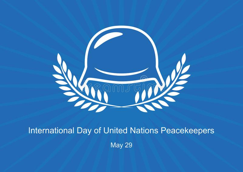 D?a internacional de vector de las fuerzas de paz de Naciones Unidas stock de ilustración