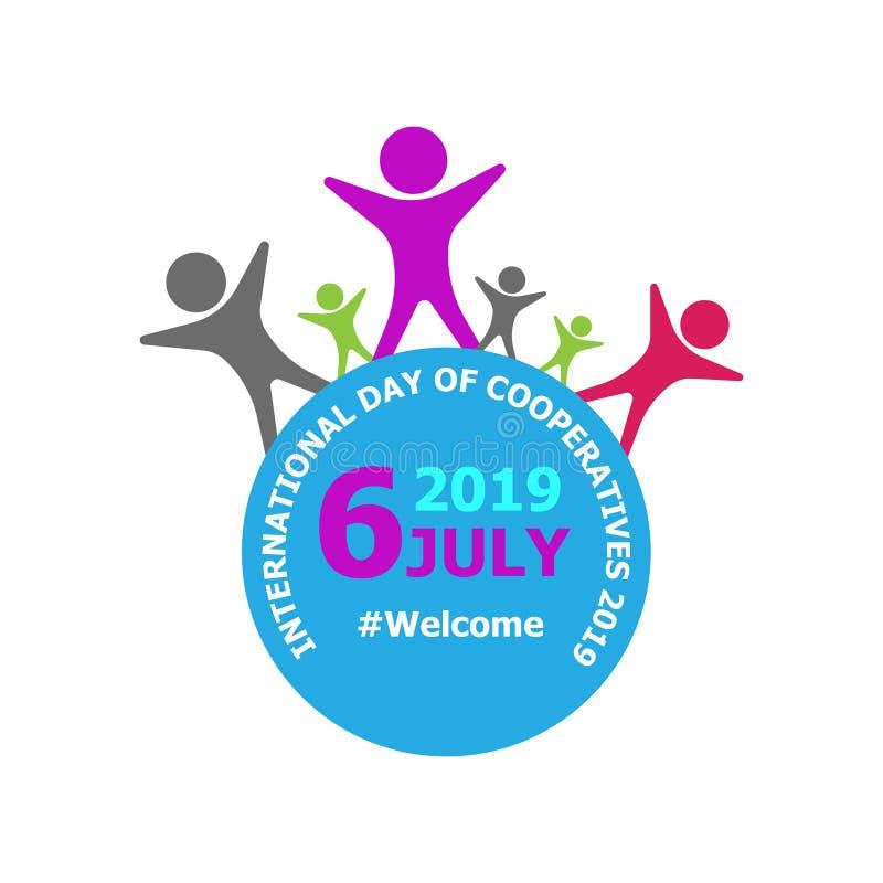 Día internacional del día 2019 de la cooperación Imagen de alta calidad ilustración del vector