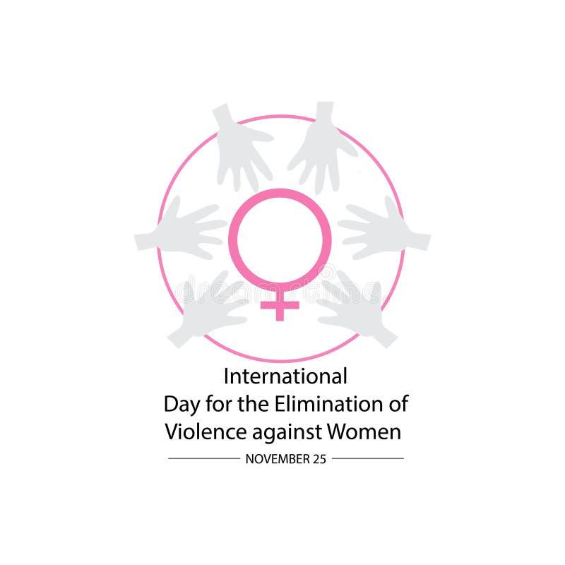 Día internacional para la eliminación de la violencia contra mujeres 25 de noviembre libre illustration