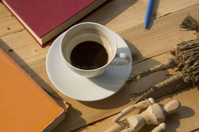 Día laborable con café fotografía de archivo