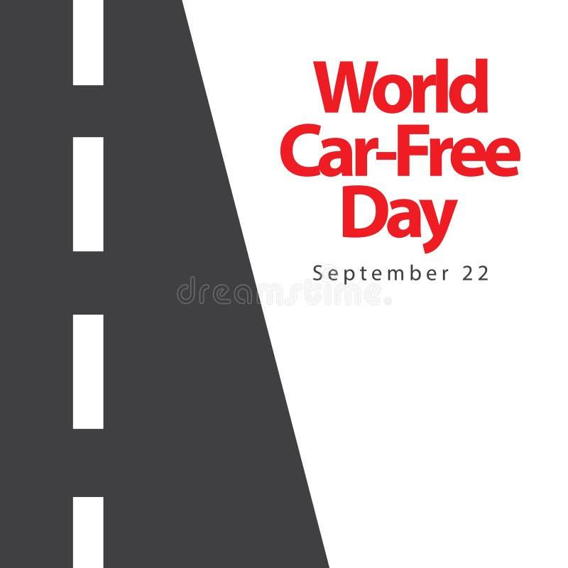 Día libre Logo Vector Template Design Illustration del coche del mundo stock de ilustración