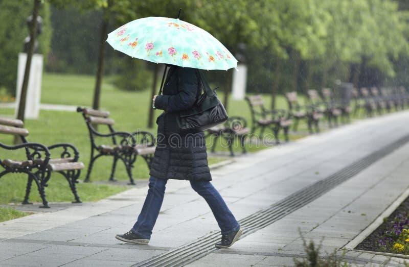 Día lluvioso imagen de archivo