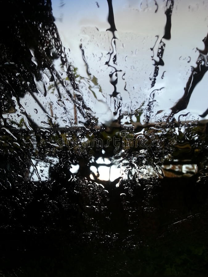 Día lluvioso en Durban foto de archivo