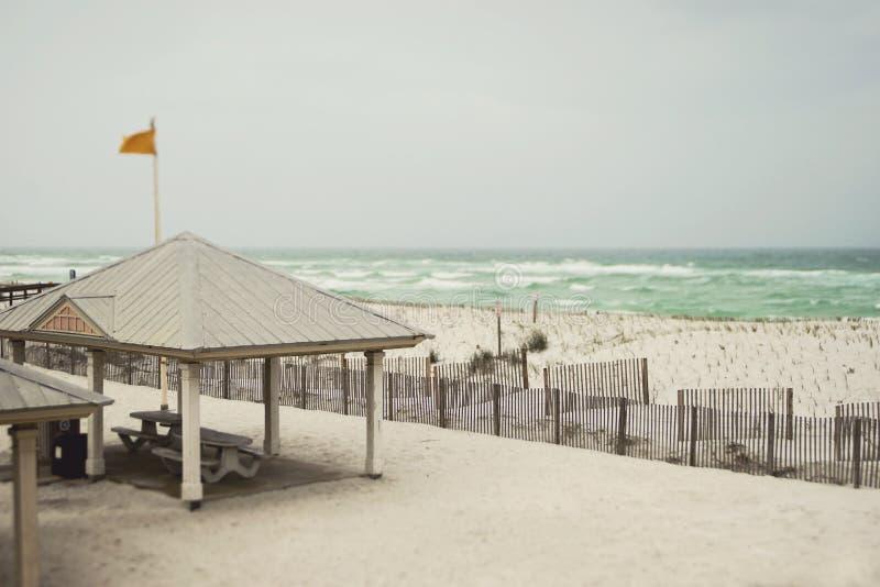 Día lluvioso hermoso en la playa de la Florida fotos de archivo libres de regalías