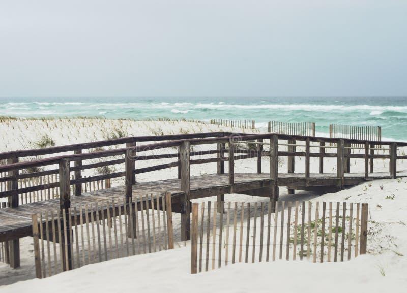 Día lluvioso hermoso en la playa de la Florida imágenes de archivo libres de regalías