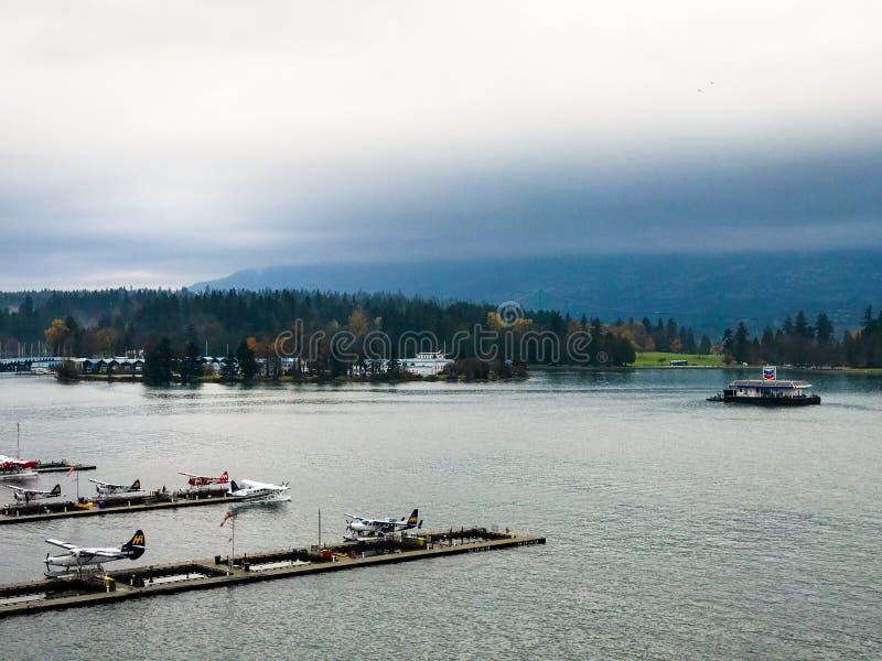 Día lluvioso nublado en Vancouver, Columbia Británica foto de archivo libre de regalías