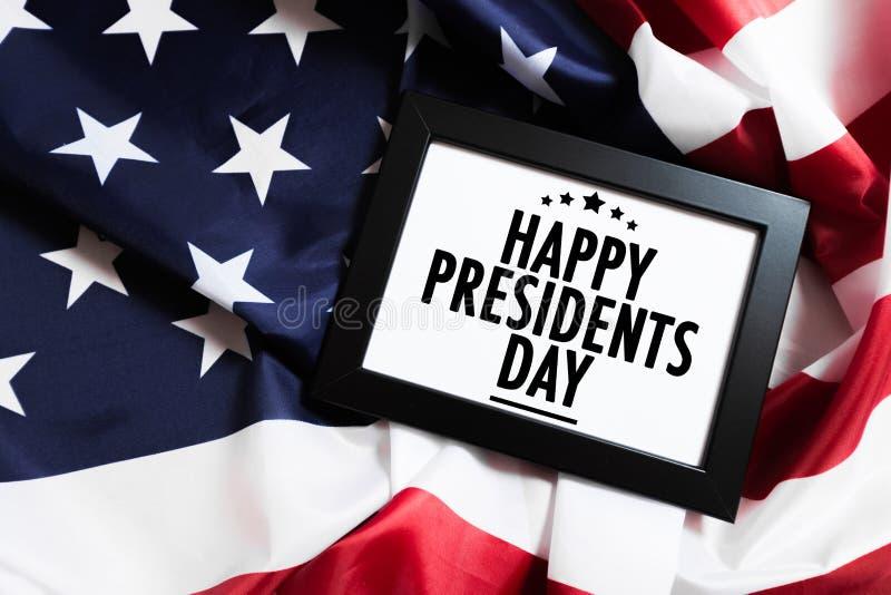 Día los E.E.U.U. - imagen de los presidentes foto de archivo