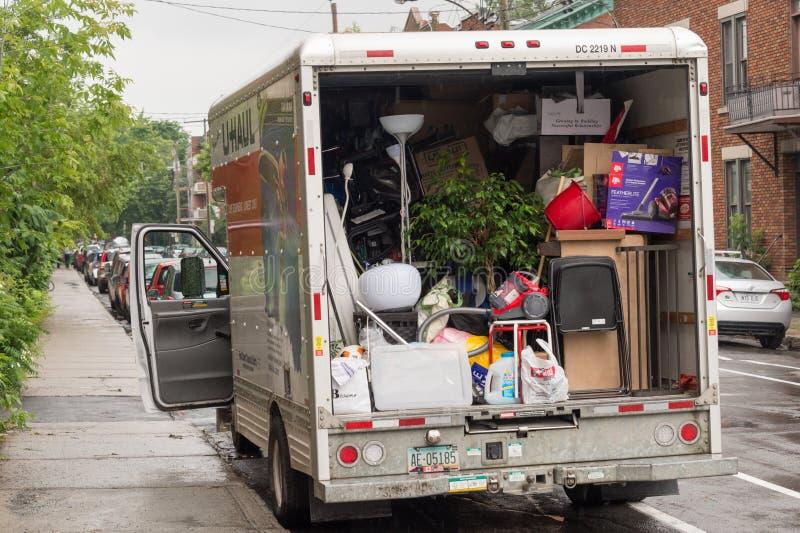 Día móvil en Montreal, Canadá imagen de archivo libre de regalías