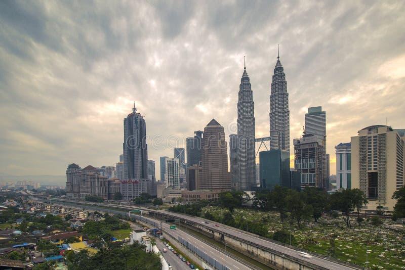 Día melancólico para Kuala Lumpur fotos de archivo