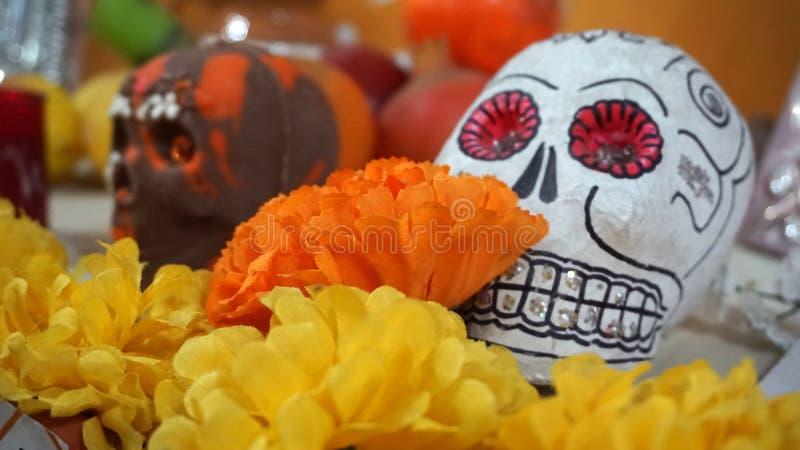 Día mexicano de los cráneos de la muerte imagen de archivo libre de regalías