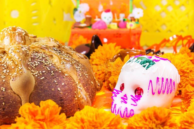 Día muerto del pan de la celebración muerta imagen de archivo