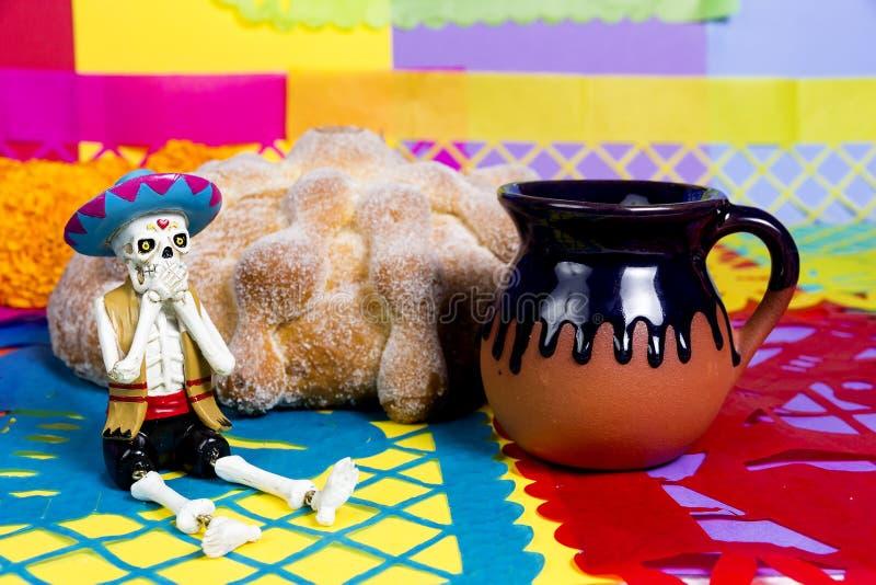 Día muerto del pan de la celebración muerta imágenes de archivo libres de regalías