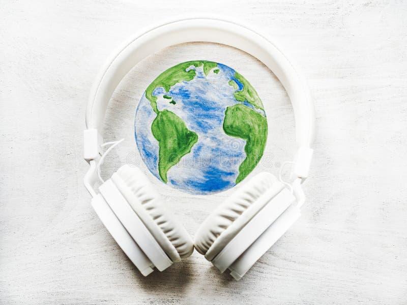 Día Mundial de la Música Tarjeta de felicitación Cerrar imagen de archivo