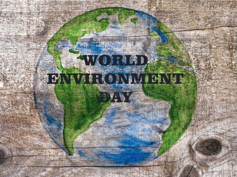 Día Mundial del Medio Ambiente Tarjeta de felicitación Cerrar fotografía de archivo libre de regalías