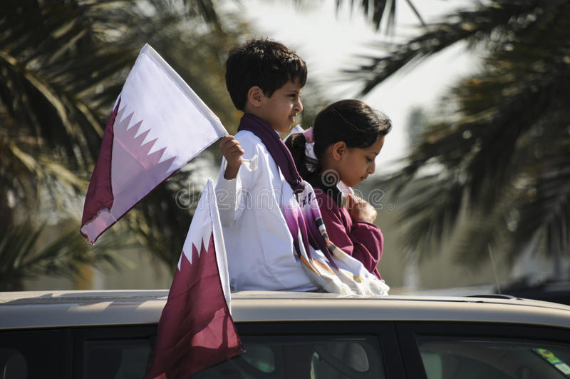 Día Nacional 2010 De Qatar Foto editorial