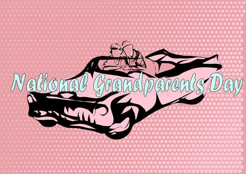 Día nacional de los abuelos stock de ilustración