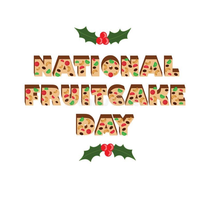 Día nacional del queque de frutas fotos de archivo