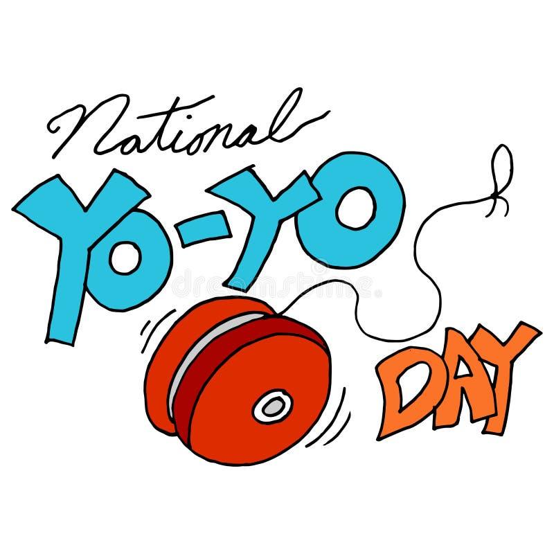 Día nacional del yoyo ilustración del vector