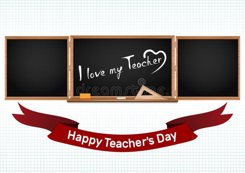 Día nacional feliz de los profesores Tarjeta de felicitación libre illustration