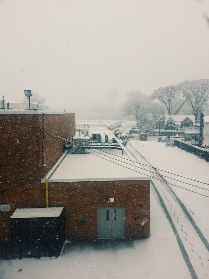 Día nevoso de Nueva York imagenes de archivo