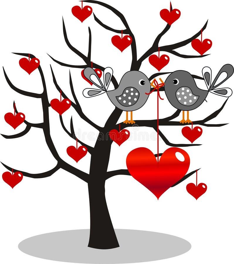 Día o cumpleaños de las tarjetas del día de San Valentín stock de ilustración