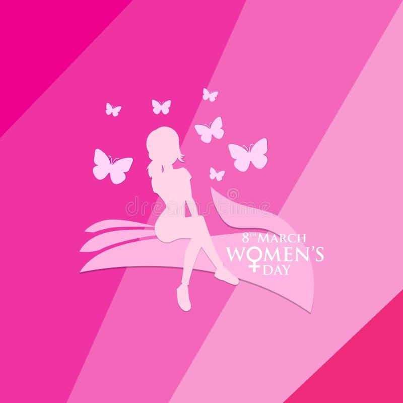 Día para mujer para el respecto a las mujeres ilustración del vector