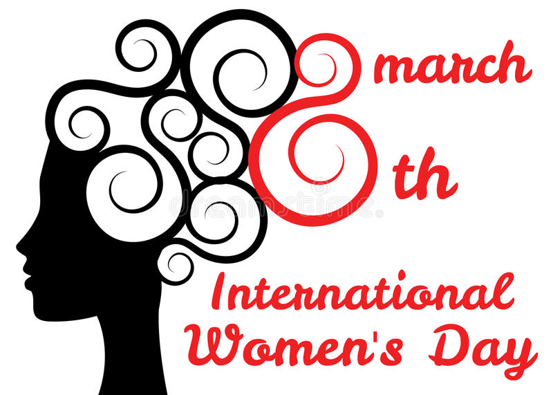 Día para mujer internacional ilustración del vector